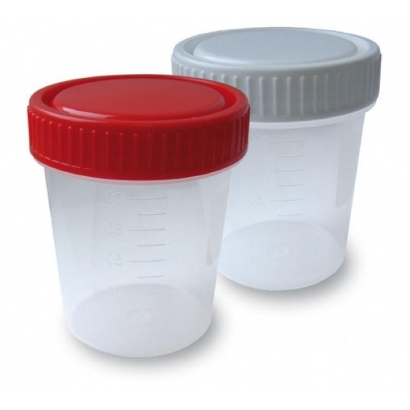 Контейнер для сбора биоматериала 120 мл., в индивидуальной упаковке, стерильный