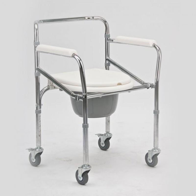 Кресло-стул с санитарным оснащением с колесами, модель FS 696